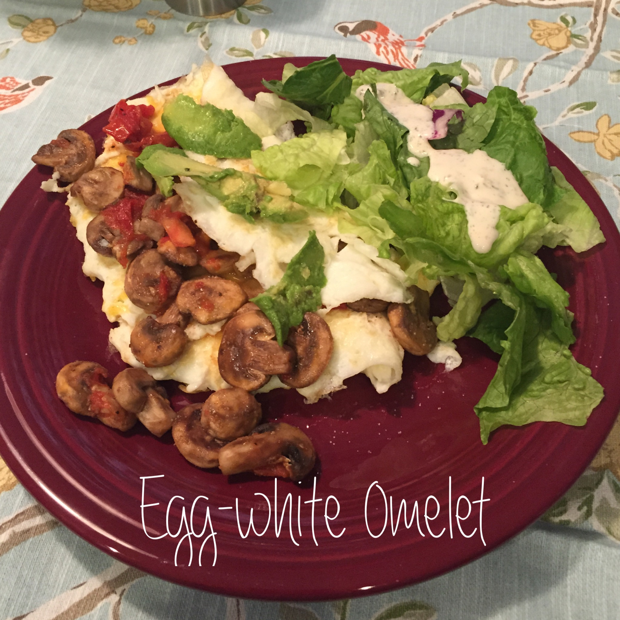 mushroom and tomato egg white omelet 5 oz egg whites lean protein 1 oz ...